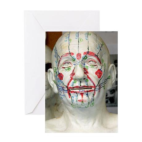 Albert Einstein model head Greeting Card