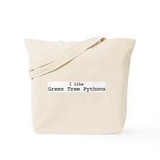 I like Green Tree Pythons Tote Bag