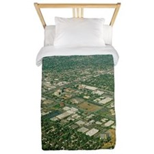 Aerial view of Silicon Valley Twin Duvet
