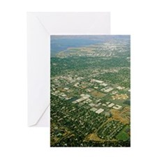 Aerial view of Silicon Valley Greeting Card