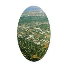 Aerial view of Silicon Valley Oval Car Magnet