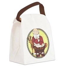Santa & Baby Jesus Canvas Lunch Bag
