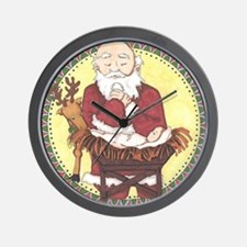 Santa & Baby Jesus Wall Clock