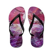 Abstract artwork of the information sup Flip Flops