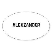 Alexzander Oval Decal