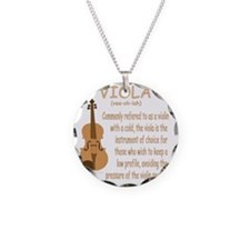 Viola Necklace Circle Charm