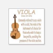 """Viola Square Sticker 3"""" x 3"""""""