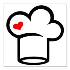 "Chef cook Square Car Magnet 3"" x 3"""