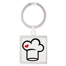 Chef cook Square Keychain