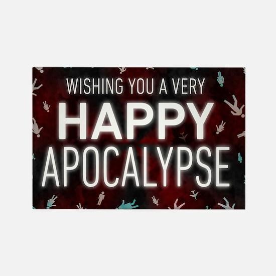 Happy Apocalypse Rectangle Magnet