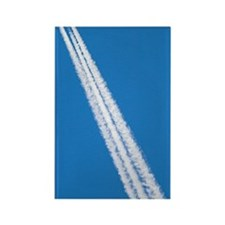 Aircraft contrail Rectangle Magnet