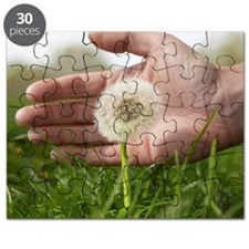 Hand protecting dandelion Puzzle
