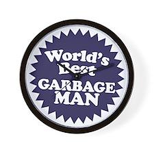 Worlds best Garbage Man Wall Clock