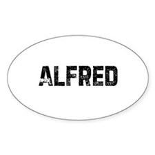 Alfred Oval Decal