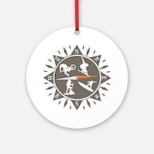 Adventure Compass Round Ornament