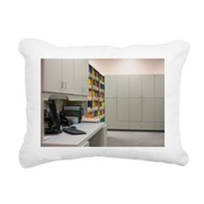Empty doctor?s office Rectangular Canvas Pillow