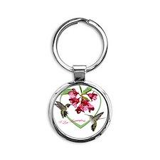 556_h_f  coin purse 6 Round Keychain