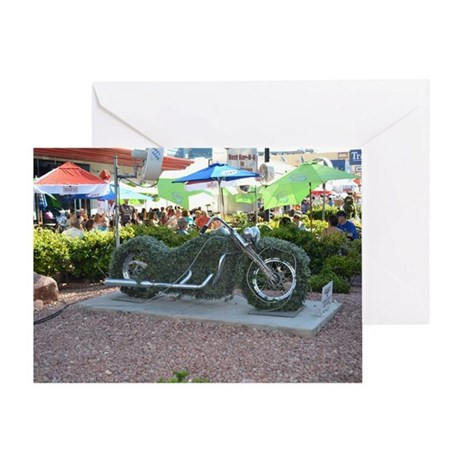 Harley-Davidson Cafe Las Vegas Shrub Greeting Card