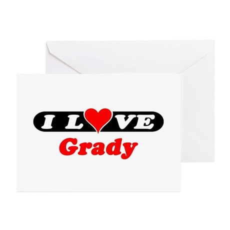 I Love Grady Greeting Cards (Pk of 10)