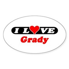 I Love Grady Oval Decal