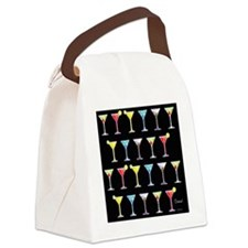 Black Martinis Canvas Lunch Bag