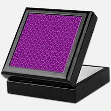 Purple Damask Print Keepsake Box