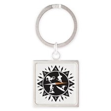 Adventure Compass Square Keychain