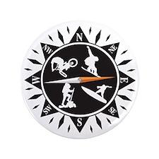 "Adventure Compass 3.5"" Button"
