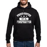 Firefighter sister Hoodie (dark)
