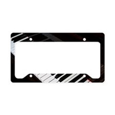 Piano keys License Plate Holder