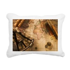 Octant, compass and tele Rectangular Canvas Pillow