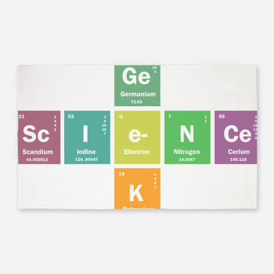 Geek science 3'x5' Area Rug