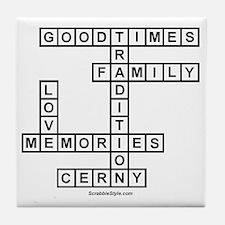 CLERNY II SCRABBLE-STYLE Tile Coaster