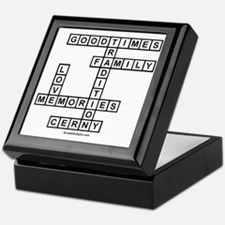 CLERNY II SCRABBLE-STYLE Keepsake Box