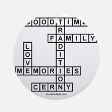 CLERNY II SCRABBLE-STYLE Round Ornament