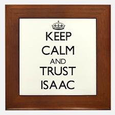 Keep Calm and TRUST Isaac Framed Tile