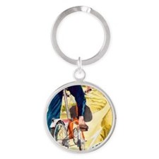 Brompton Electric Bike Round Keychain