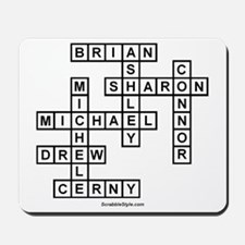 CERNY SCRABBLE-STYLE Mousepad