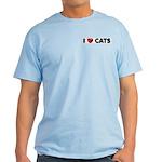 """Light T-Shirt """"I love Cats"""""""