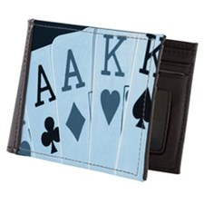 Playing cards, close-up Mens Wallet
