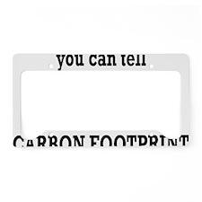 carbonfootprintrectangle License Plate Holder