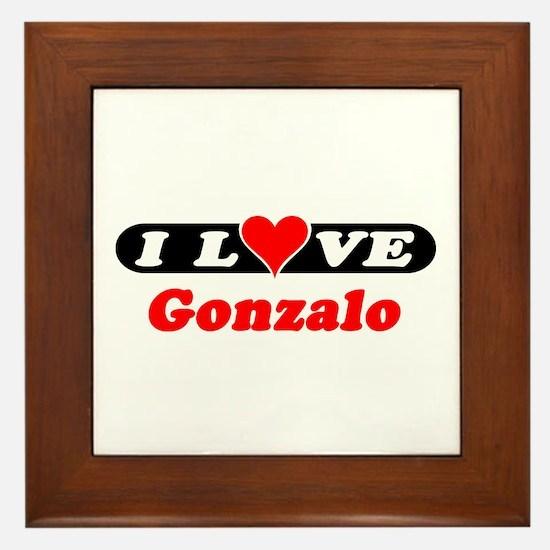 I Love Gonzalo Framed Tile