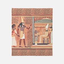 Ani Papyrus Egyptian Throw Blanket