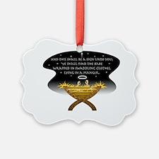 Christmas Manger Ornament