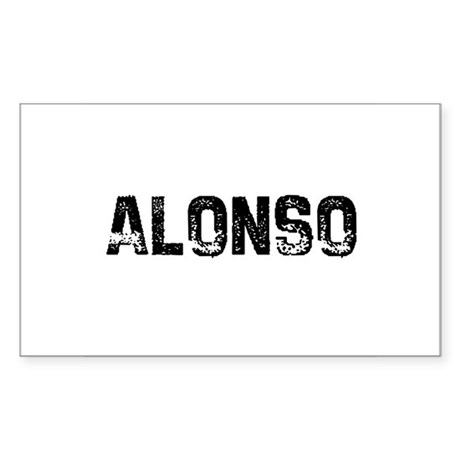 Alonso Rectangle Sticker