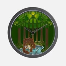 Bear of Wisdom Wall Clock