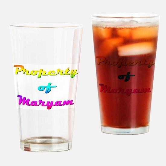 Property Of Maryam Female Drinking Glass