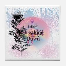 Breaking Dawn Rainbow Light Tile Coaster