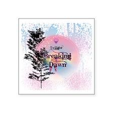 "Breaking Dawn Rainbow Light Square Sticker 3"" x 3"""