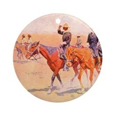 Old West Cavalry Round Ornament